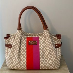 Kate Spade canvas and leather purse - EUC
